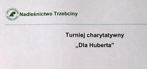 """Strzelecki turniej strzelecki """"Dla Huberta"""""""