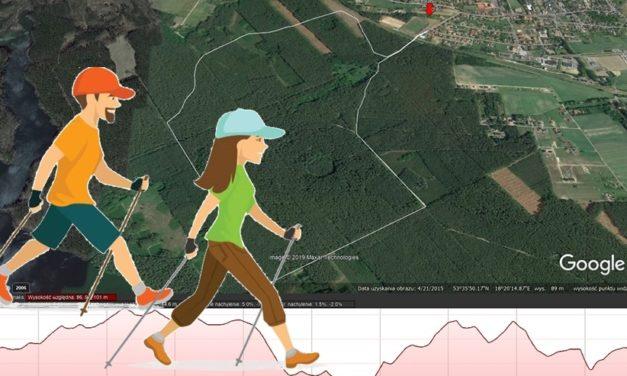 Pięciokilometrowa trasa Nordic Walking